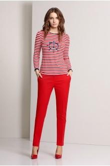 Брючный костюм /комплект Эола-стиль 1244 красный фото 2