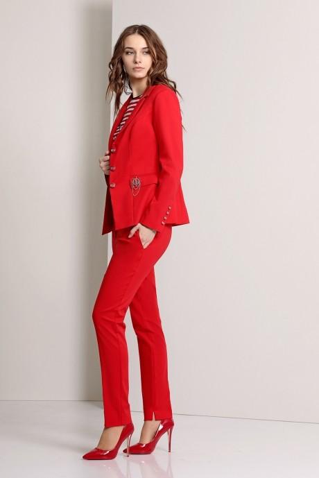 Брючный костюм /комплект Эола-стиль 1244 красный