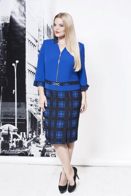 Повседневное платье Moda-Versal П-1675 сине-черный