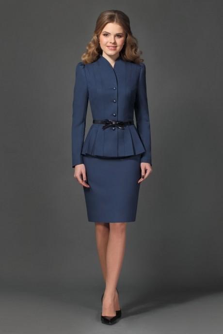 Юбочный костюм /комплект Lissana 1740 (1) темно-синий