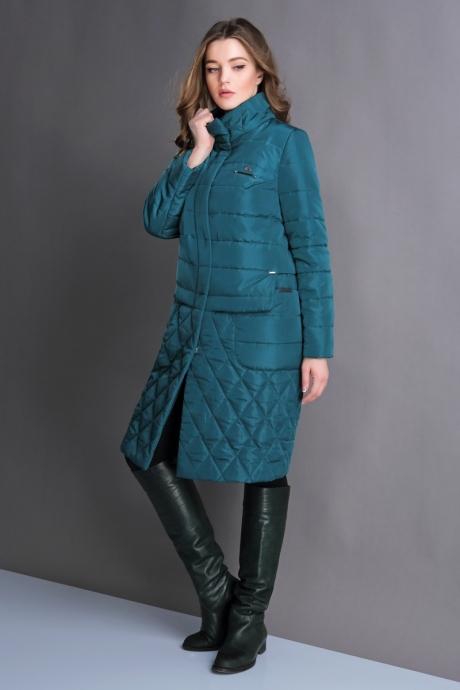 Пальто Магия Моды 1121 изумруд