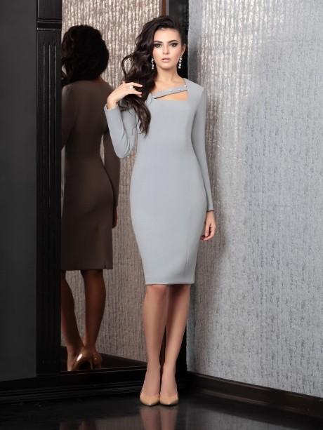 Вечернее платье Твой Имидж 4126 серый