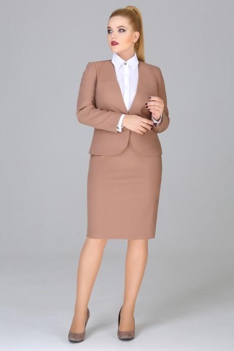 Юбочный костюм /комплект Fashion Lux 1017 орех