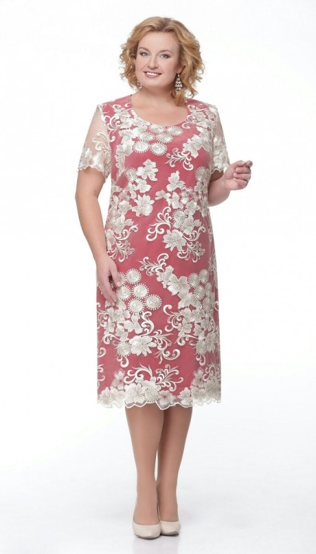 Вечернее платье Aira Style 511 золото/красный