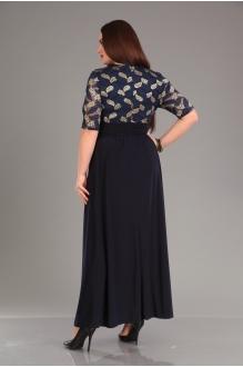 Повседневные платья Мублиз 825 синий фото 2