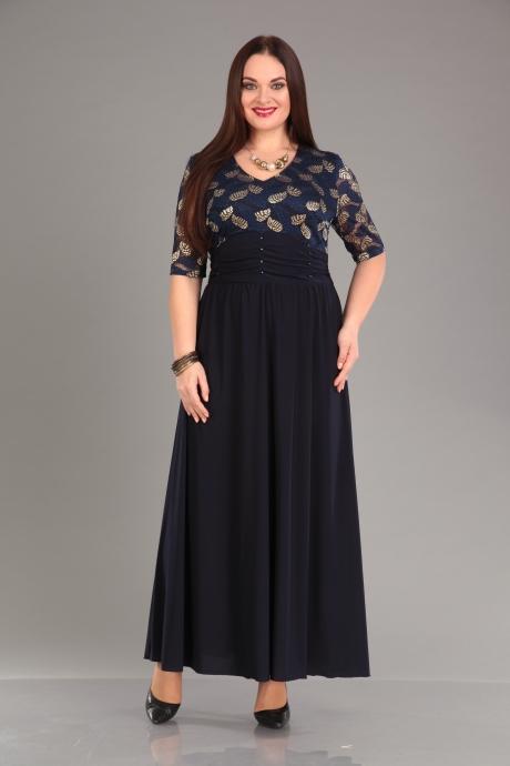 Повседневные платья Мублиз 825 синий