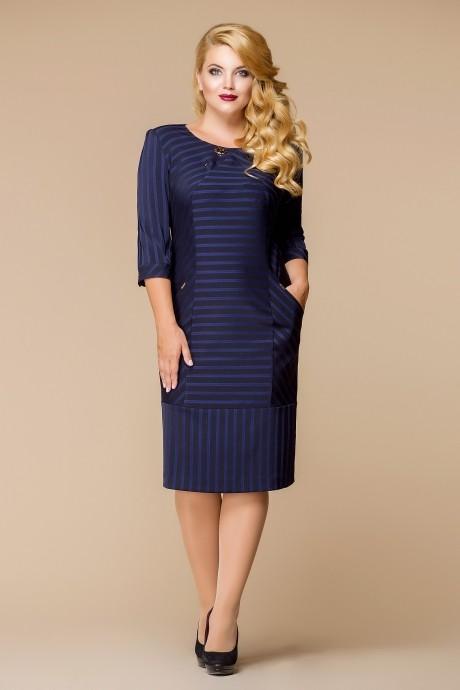 Деловое платье Romanovich Style 1-1394 синий
