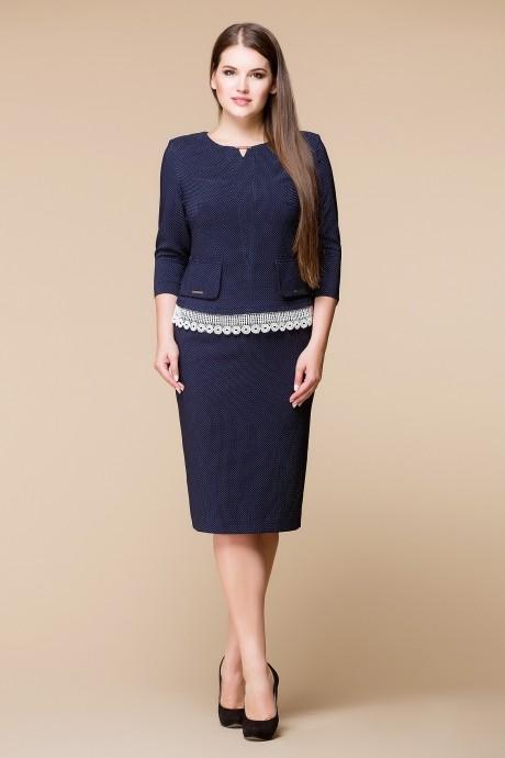 Юбочный костюм /комплект Romanovich Style 2-1379 кружево-молочное однотон