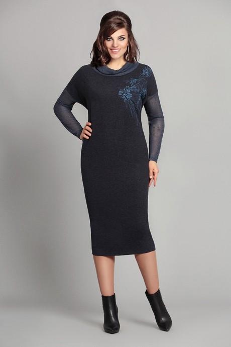Повседневное платье Мублиз 033 синий