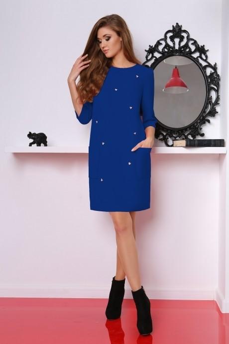 Повседневное платье LeNata 11619 василек