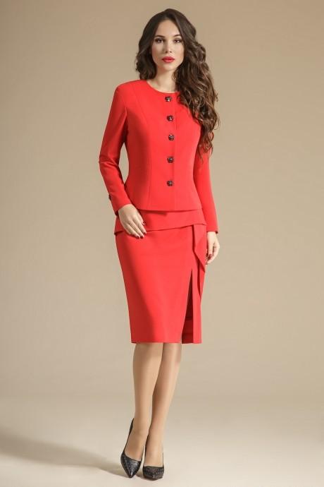 Юбочные костюмы /комплекты Teffi Style 1233 пурпурно-красный