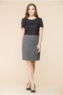 Юбочный костюм /комплект Romanovich Style 3-1393 серый/верх черный фото 2