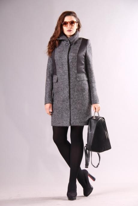 Пальто Runella 1214 серый
