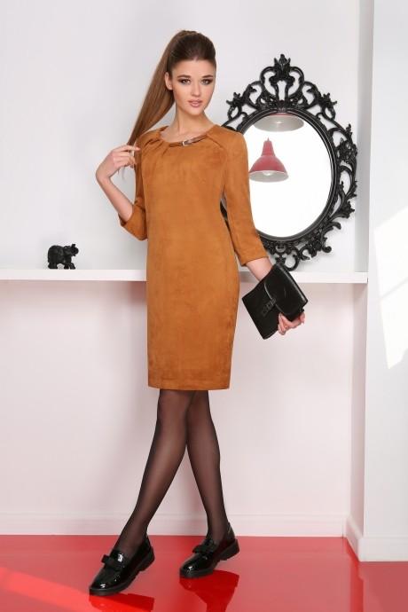 Повседневное платье LeNata 11714 коричневый