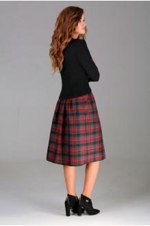 Юбочный костюм /комплект Асолия 1124 красная юбка фото 2