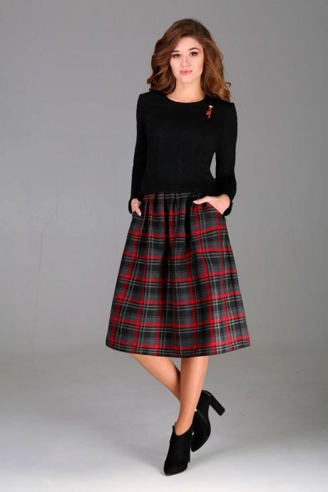 Юбочный костюм /комплект Асолия 1124 красная юбка