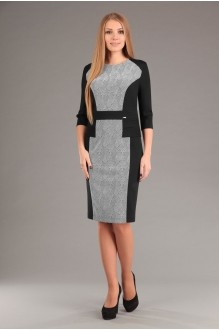 Повседневное платье Эола-стиль 1267 зиг заг + черный фото 1
