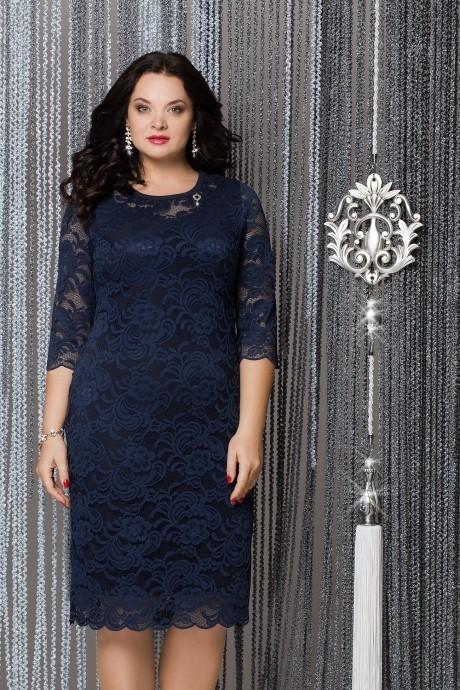 Вечерние платья LeNata 11607 темно-синий