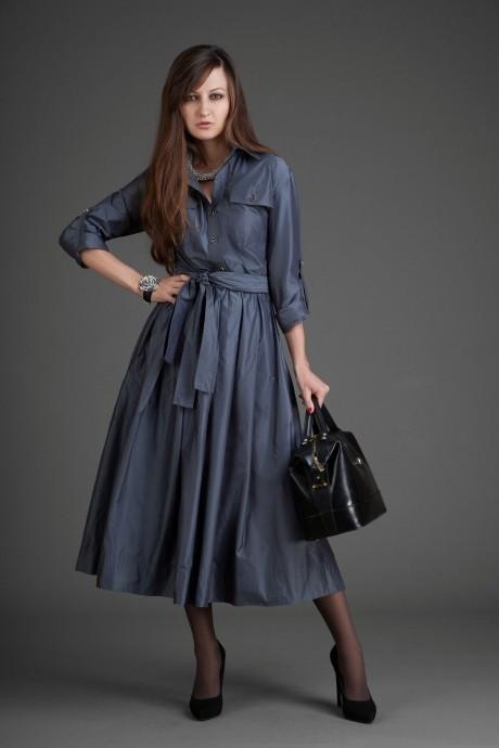 Повседневное платье Elpaiz 099 серый