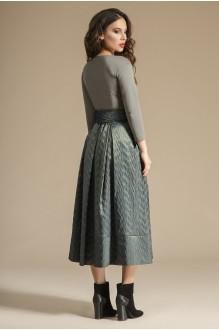 Юбочный костюм /комплект Teffi Style 1244 олива фото 2