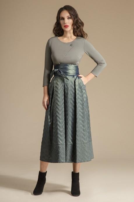 Юбочный костюм /комплект Teffi Style 1244 олива