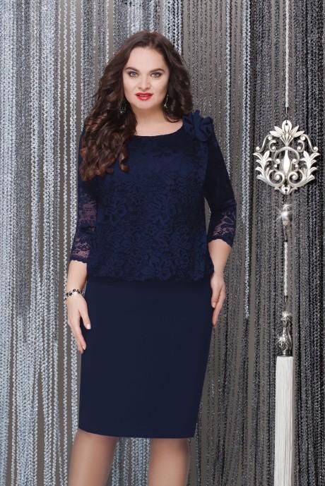 Вечернее платье LeNata 11715 темно-синий