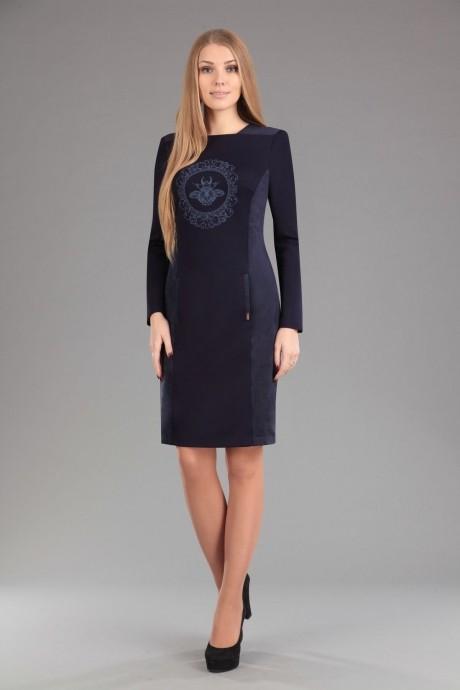 Повседневное платье Эола-стиль 1277 синий
