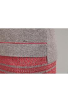 Юбочные костюмы /комплекты EOLA 1276 серый /красный орнамент фото 3