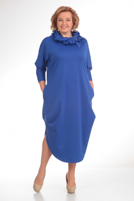 Длинное платье Diomant 1135 василёк