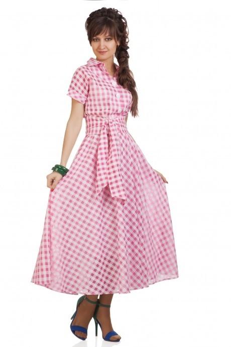 Повседневное платье Elpaiz 085 розовый