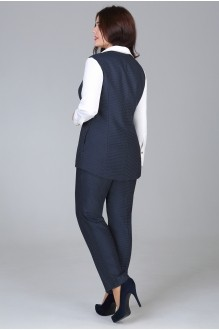 Брюки Fashion Lux 1056 синий в точку фото 2