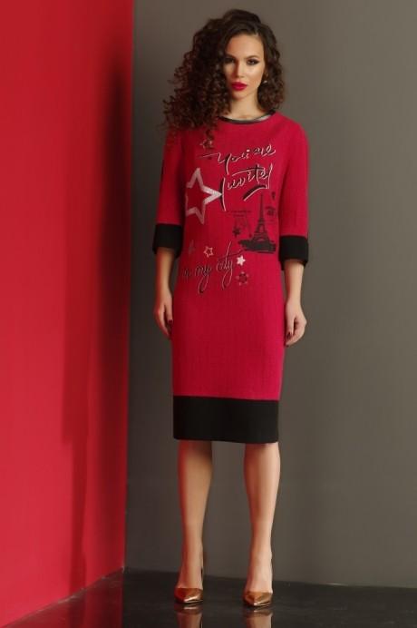 Повседневное платье Lissana 2988 красный