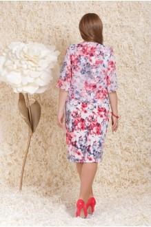 Повседневное платье LeNata  11739 розовые цветы фото 2