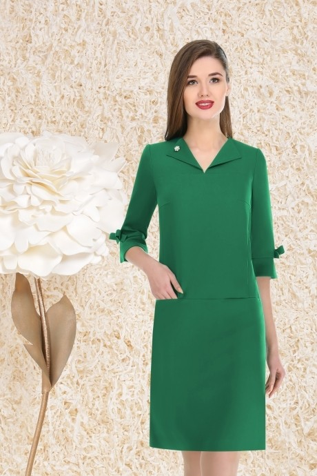 Повседневные платья LeNata  11737 зеленый