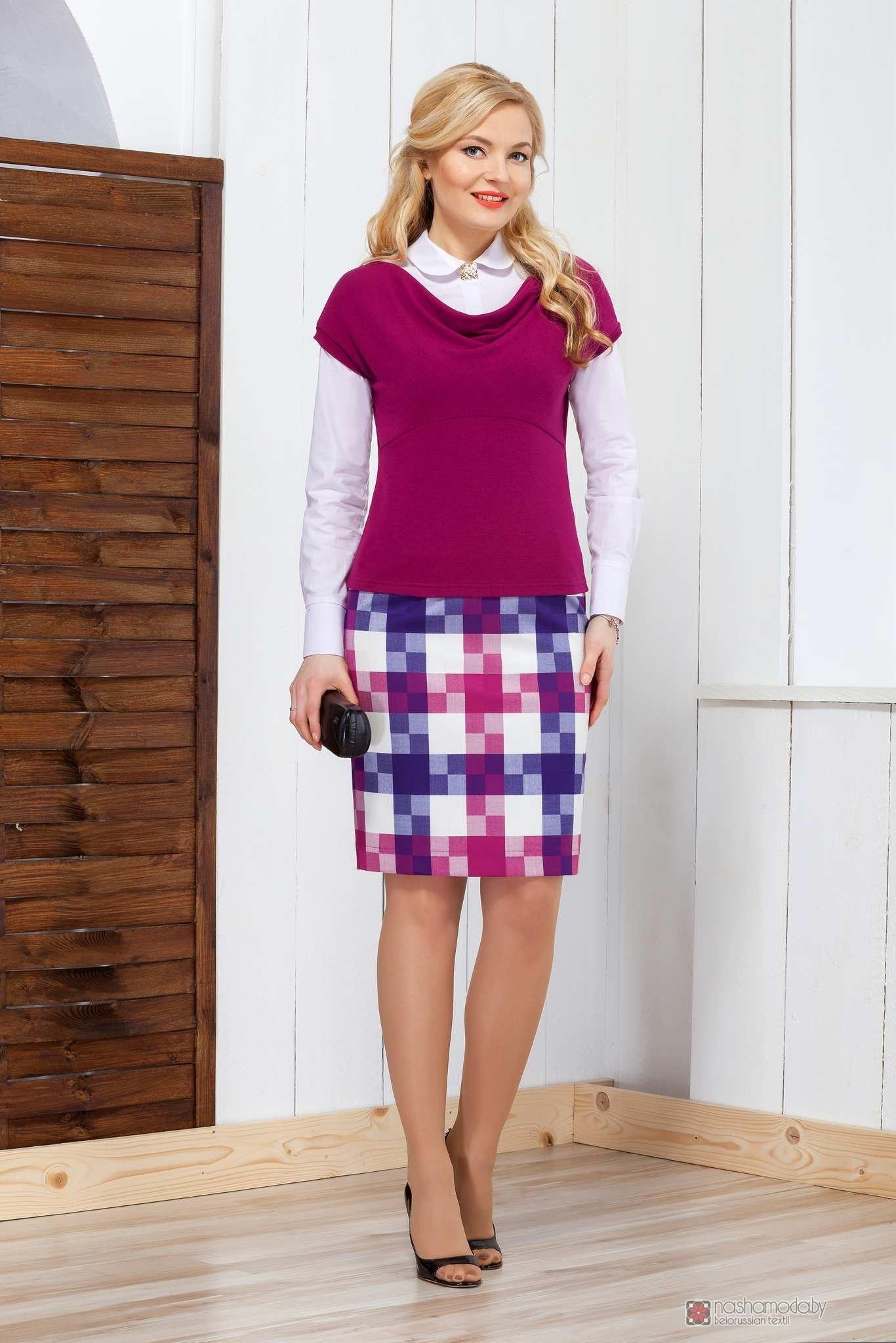 как обработать верхний срез юбки с обтачкой