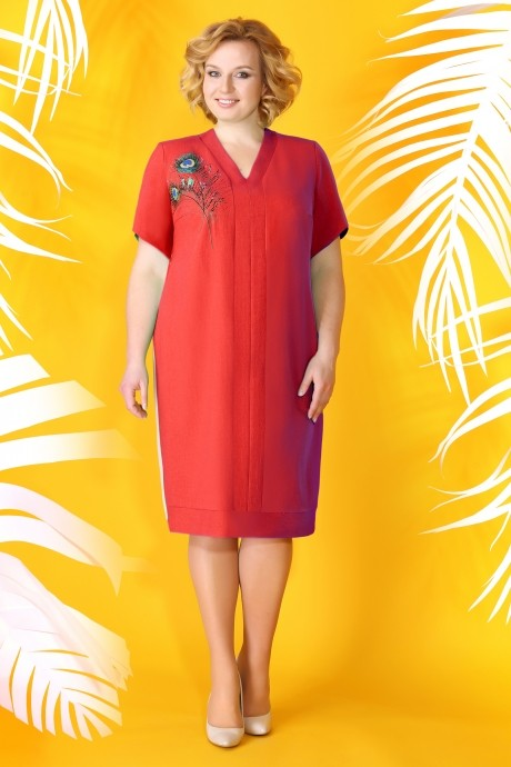 Летние платья Ивелта Плюс 1513 красный