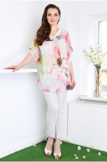 DilanaVIP 1100 светлая блуза
