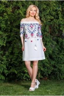 Azzara 414 белое платье с шитьем
