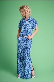 Euro-moda 107 синий в цветочек