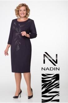Надин-Н 1429 синий в горох