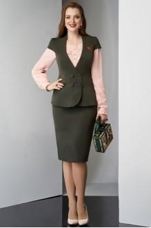 Lissana 3228 темно-зеленый/розовый