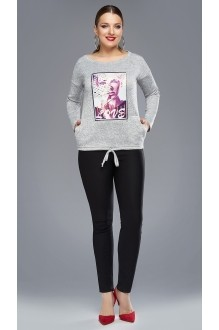 Жакеты (пиджаки) DiLiaFashion 0087 -1 серый фото 1