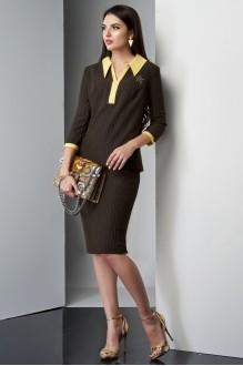 Юбочные костюмы /комплекты Lissana 3210 желтый/коричневый фото 2