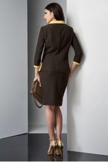 Юбочные костюмы /комплекты Lissana 3210 желтый/коричневый фото 3