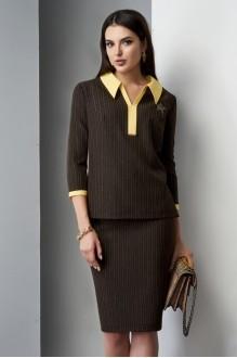 Юбочные костюмы /комплекты Lissana 3210 желтый/коричневый фото 4