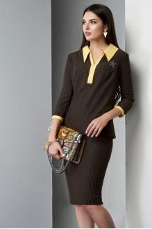 Юбочные костюмы /комплекты Lissana 3210 желтый/коричневый фото 5