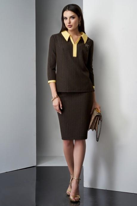 Юбочные костюмы /комплекты Lissana 3210 желтый/коричневый
