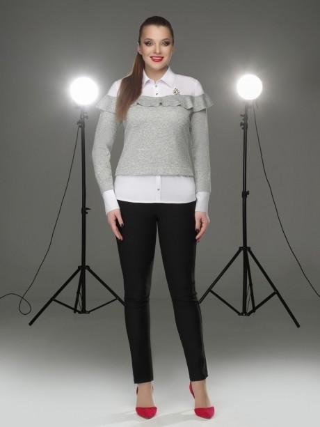 Блузки и туники DiLiaFashion 0095 серый