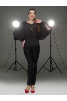 Блузки и туники DiLiaFashion 0088 чёрный фото 1