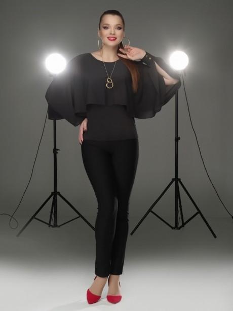 Блузки и туники DiLiaFashion 0088 чёрный